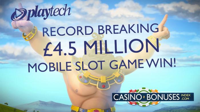 playtech mobile jackpot record