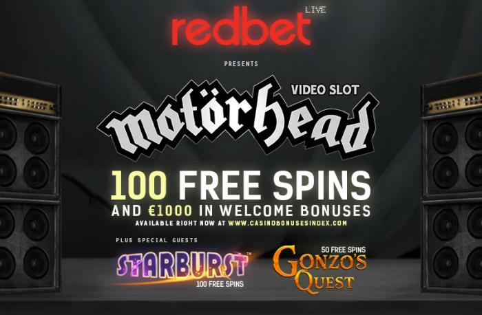Redbet Casino turn up the volume w/ €1000 + 250 Free Spins!