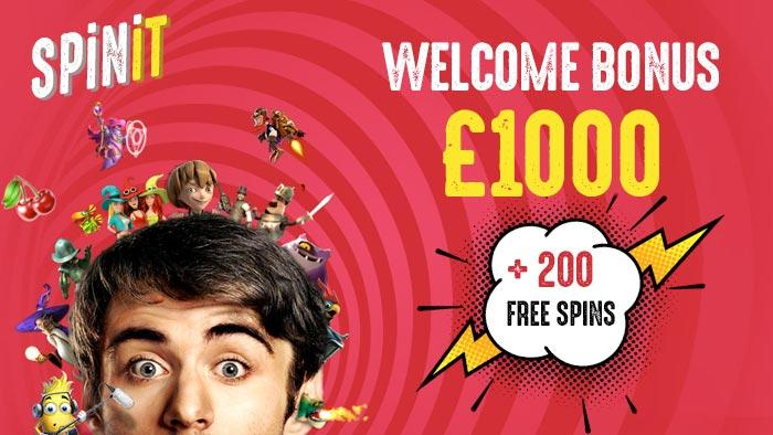 Grab a big welcome bonus + 200 free spins at Spinit Casino!