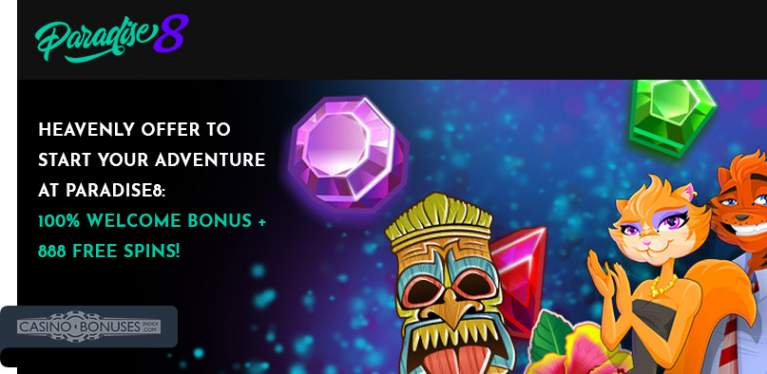 paradise8 casino welcome offer