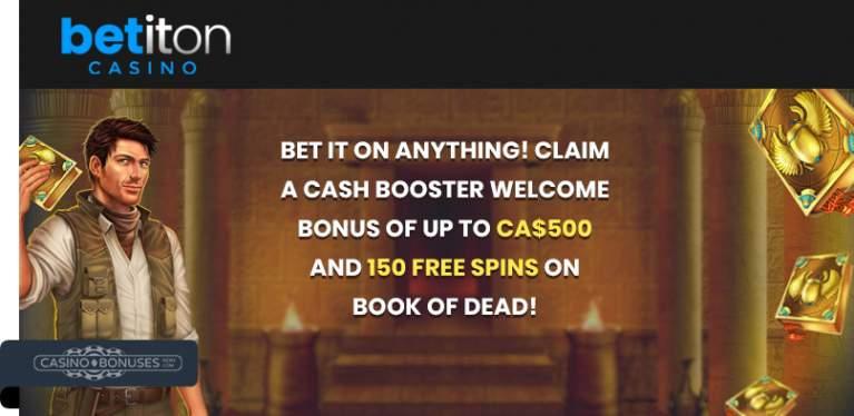 Book of dead welcome bonus at Betiton